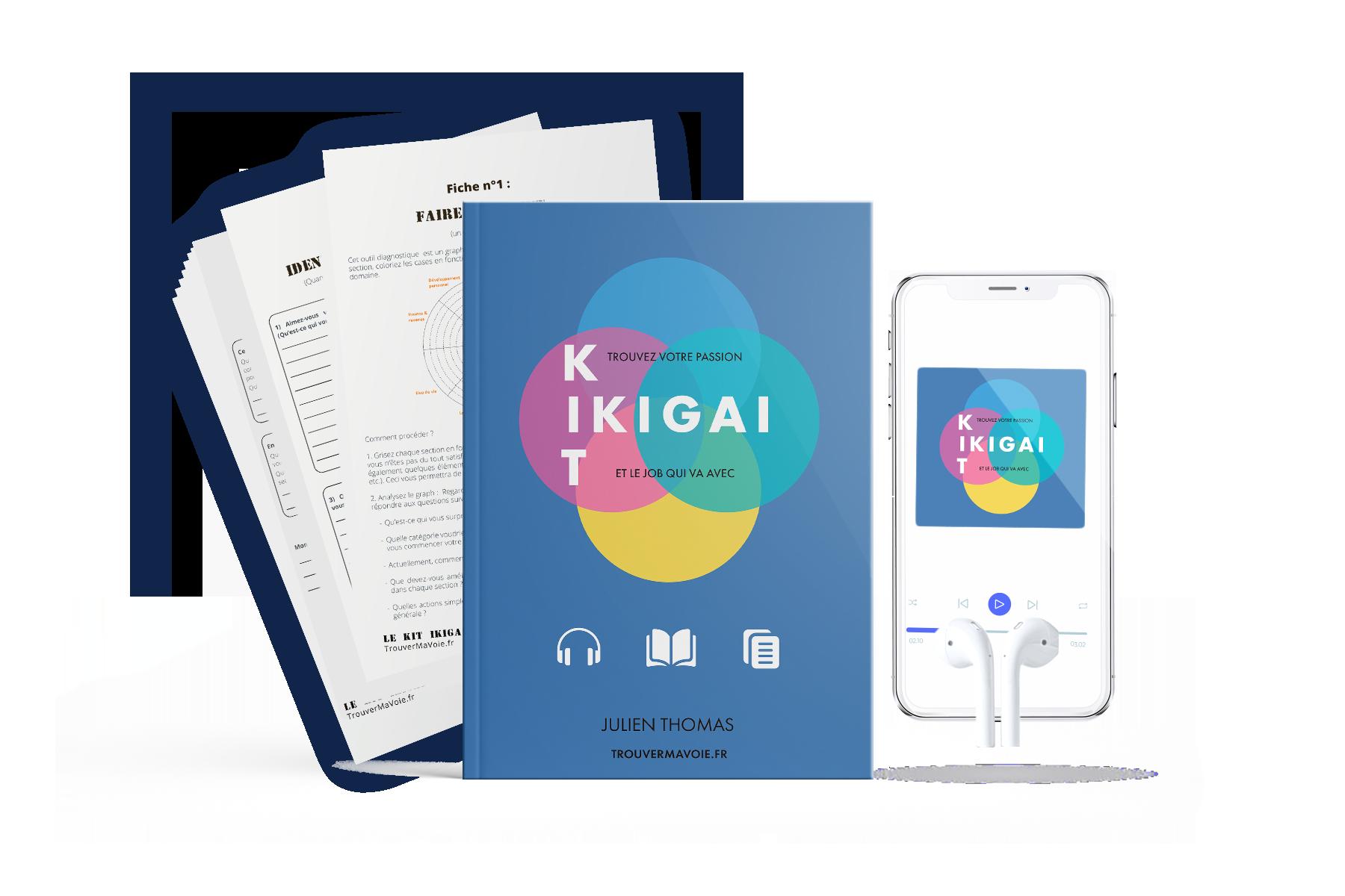 Obtenez le kit ikigai : livre, exercices et audio pour trouver son job de rêve